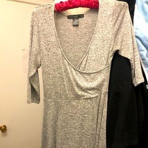 Salt and Pepper Light Grey Dress